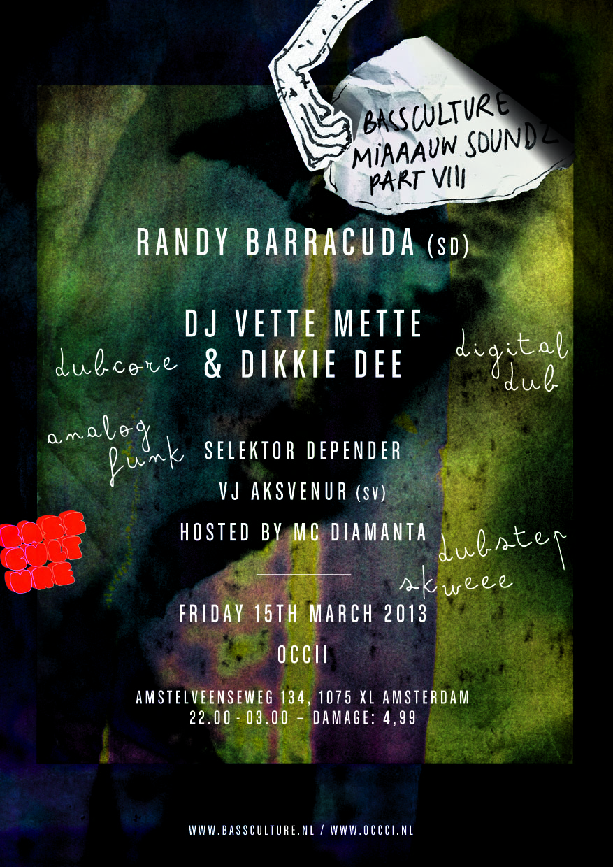 Bassculture presents MIAAAUW SOUNDZ part VIII featuring Randy BARRACUDA
