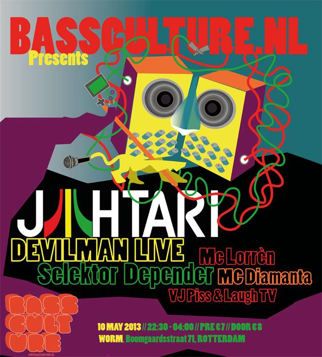 Bassculture presents: Jah Tari, Devilman... @Worm Rotterdam