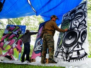 Live painting roots festival 2012 the bass stage