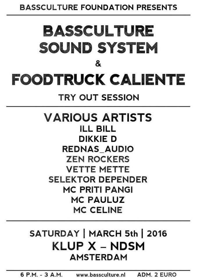 BASSCULTURE SOUND SYSTEM & FOODTRUCK CALIENTE
