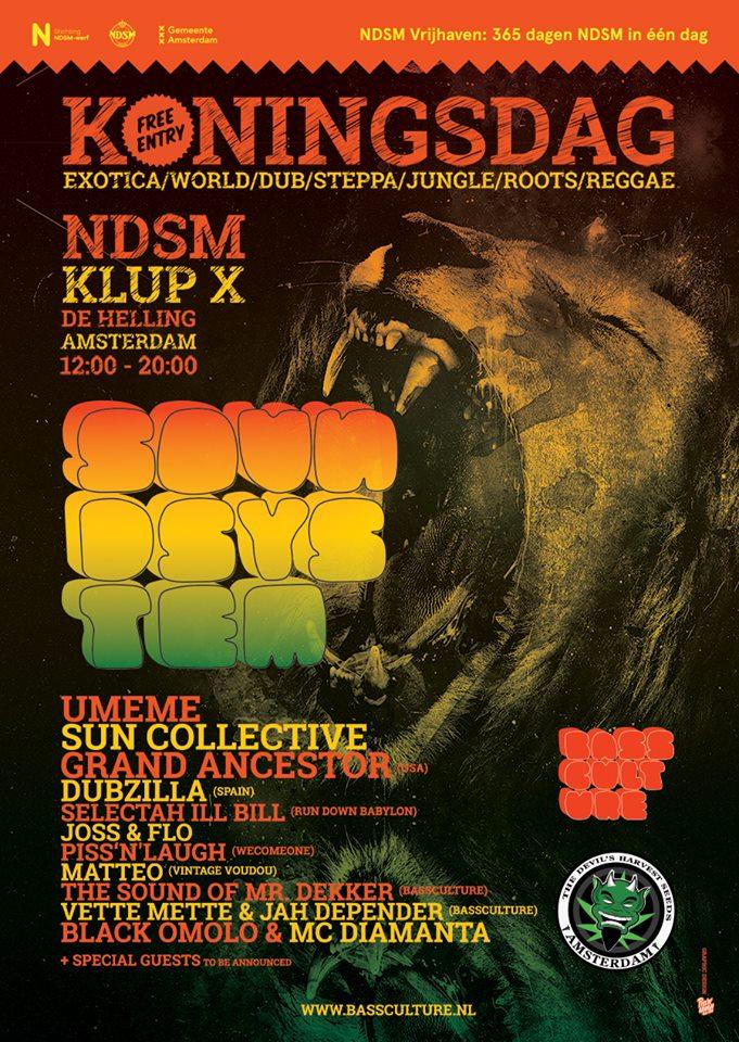 Koningsdag – Bassculture Sound System – KLup X