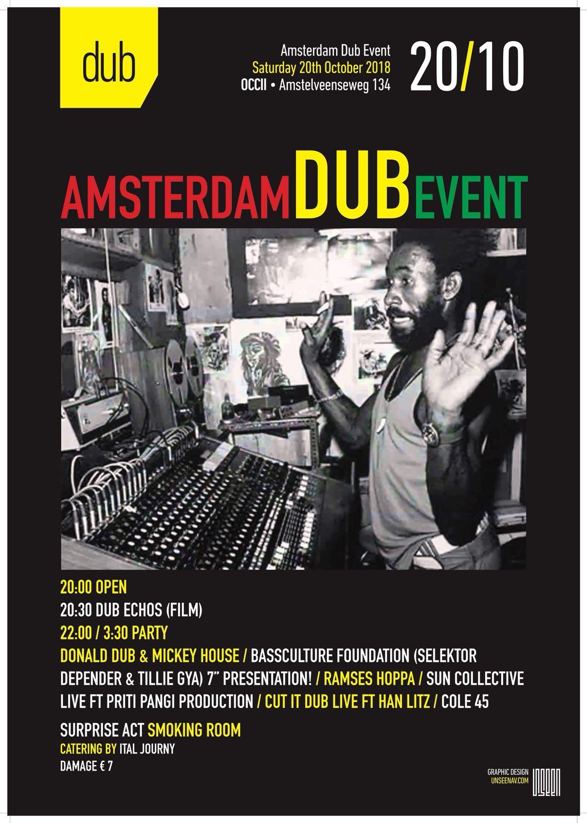 Amsterdam Dub Event 20/10